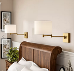 PAIR of Southwick Swinging Wall Sconces - Gold Finish