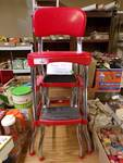 RED COSTCO KITCHEN STOOL