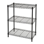 New in box 3 tier small wire shelving rack rate for kitchen office use your imagination