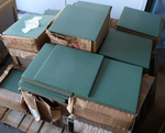"510 Sq Ft of Solid Green 12"" x 12"" Porcelain Floor Tile"