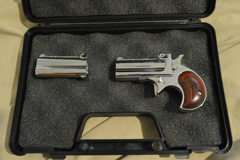 Cimarron Firearms Co Derringer  22LR /  22 Mag Chrome Serial# 074934