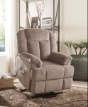 Acme Ixia Recliner With Power Lift In Light Brown Finish 59275