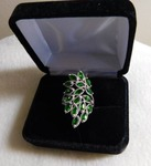 Russian Diopside/Diamond 2ct.