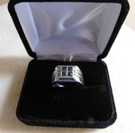 Men's Blue Diamond 1 ct