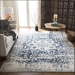 8ft x 10ft Madison Home Royal Blue/White Area Rug