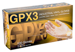 Ammex GPX3 Vinyl Glove, Latex Free, Disposable, Powder Free, Medium - 1 CASE