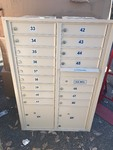 New 16 slot mailbox or use in house for safe lock up individual doors many uses mount in wall has all the keys as pictured high dollar items