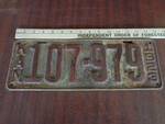 1923 Kansas Metal Car Tag