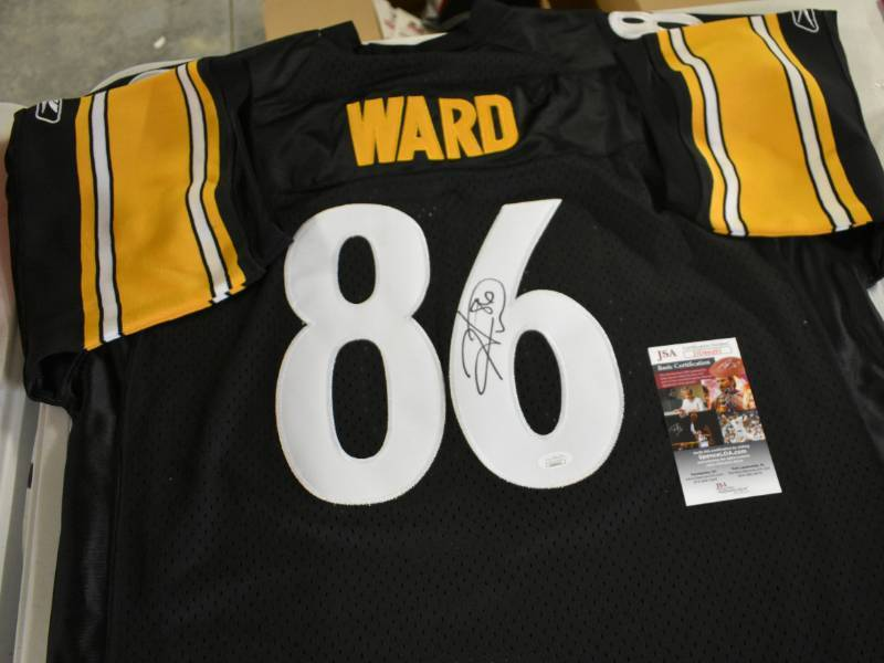 sports shoes 322d7 38071 Signed Hines Ward Pittsburgh Steelers Authentic Reebok #86 ...