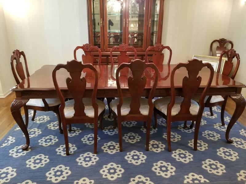 stanley dining room furniture | Stanley Dining Room Table With 9 Chairs | Home Furniture ...