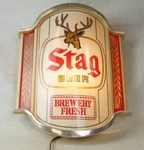 Vintage STAG BEER Lighted Bar Sign - Brewery Fresh - Works