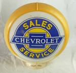 "Chevrolet Gas Pump Globe - Sales / Service - Over 16"" in Diameter! WOW!"