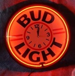Anheuser-Busch Bud Light Neon Clock