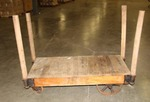 Nutting Company Heavy Duty Antique Vintage Industrial Age Warehouse Flat 4 wheel Flat Cart