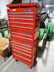 Craftsman 3 tier ball bearing tool box on wheels w/ various tools & contents-