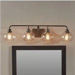 Braxton 4-Light Vanity Light : Old Bronze