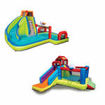 Banzai 2 In 1 Ultimate Aqua Sports Water Park And Climb 'n Bounce House Combo