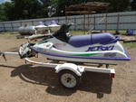1997 Kawasaki SS jetski w/ Yacht club trailer & cover- Runs/Drives-
