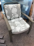 Heavy duty aluminum patio chair with brand new cushion as pictured