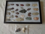 Arrow Heads in display case