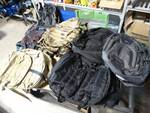 Lot of various backpacks.