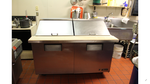 TRUE SS Refrigerated Prep Table with Attached Prep Board