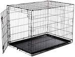Amazonbasics Single-door Folding Metal Dog Crate, 48-inches