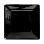 (100) Black Rimmed Square Dinner Plate 10in