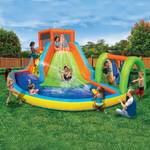 Banzai Inflatable Summit Splash Adventure Kiddie Pool Slide Water Park