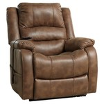 Ashley Yandel Power Lift Recliner in Saddle ......Retails for $545