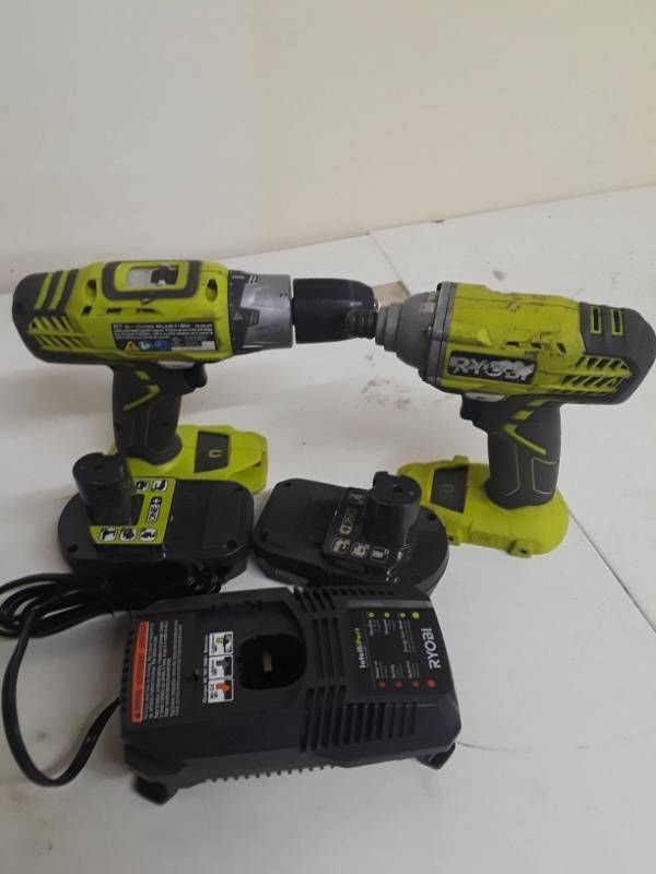Ryobi 18-Volt One+ Drill/Driver and Impact Driver Kit