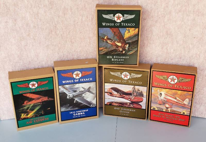 Set of Wings of Texaco Ertl Collectibles Planes (1-5 in the Series)(NIB)