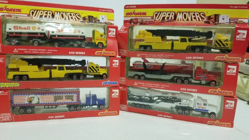 Majorette Super Movers 600 series lot of 6 HO Scale