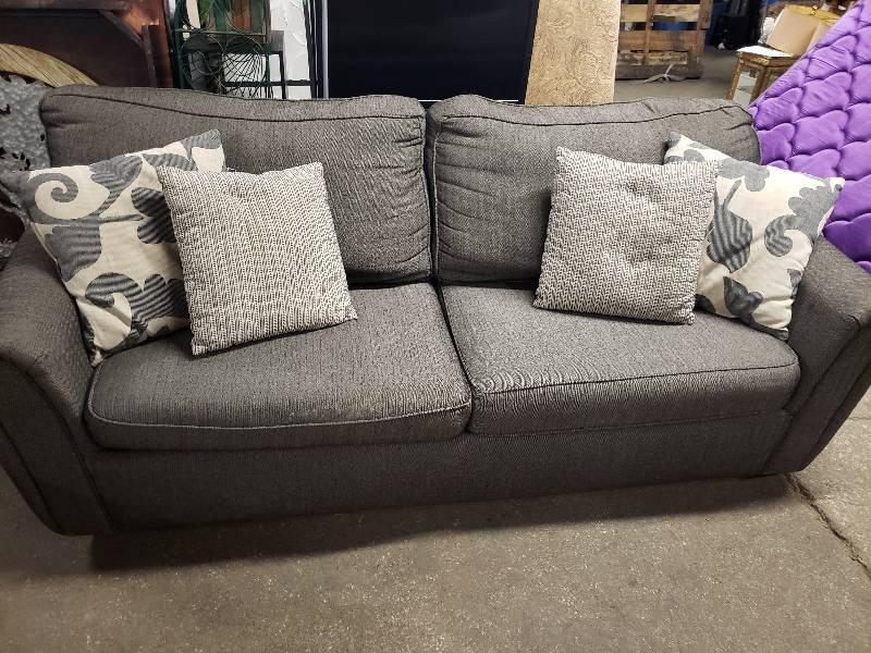 Grey Couch With Throw Pillows Nice Sectional