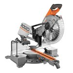 RIDGID 15 Amp 12 in. Corded Dual Bevel Sliding Miter Saw with 70 Degree Miter Capacity