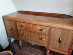 Vintage wood sideboard buffet