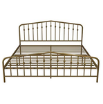 Novagratz BUSHWICK Metal Bed KING SIZE Gold (NO MATTRESS)