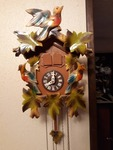 Wood Cuckoo Clock w/ Pinecone Weights