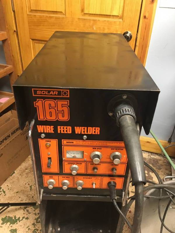 Solar 165 Wire Feed Welder on Cart