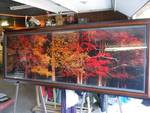 8 foot by 3 foot Images of Nature fall foliage framed art
