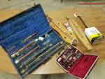 Lot of instruments: Bassoon, 2 Dulcimers, Can-Banjo, Bundy Clarinet