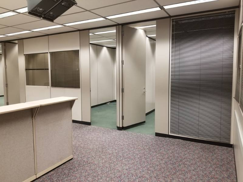 Entire Hallway Full of Cubicle Walls / Desk w/ Hutches
