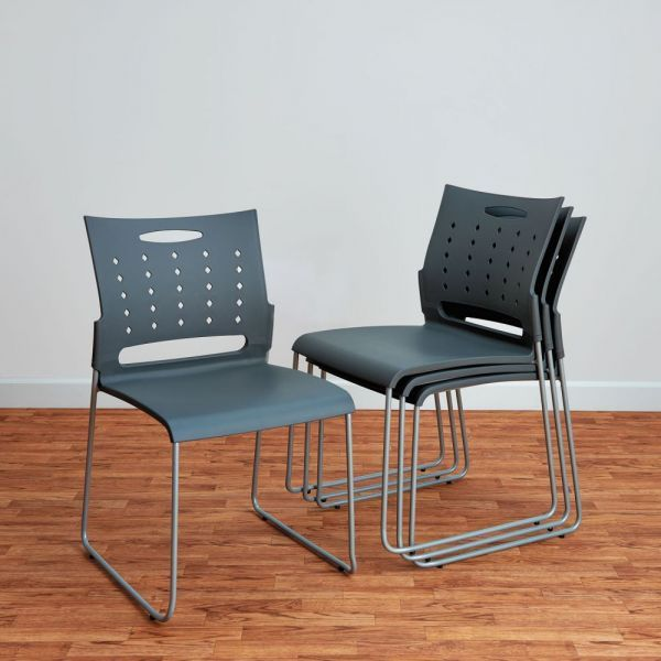 Alera Continental Series Perforated Back Stacking Chairs ALESC6546 - 4/Carton