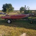 Lowe 14 Foot V Bottom Boat with Trailer