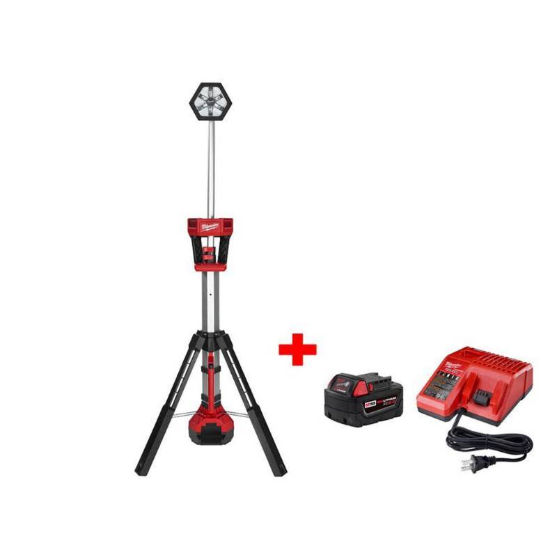 Milwaukee Electric Tool - 2130-20P - Milwaukee 2130-20P 18-Volt 5 Ah M18 TRUEVIEW LED Lithium-Ion Stand Light