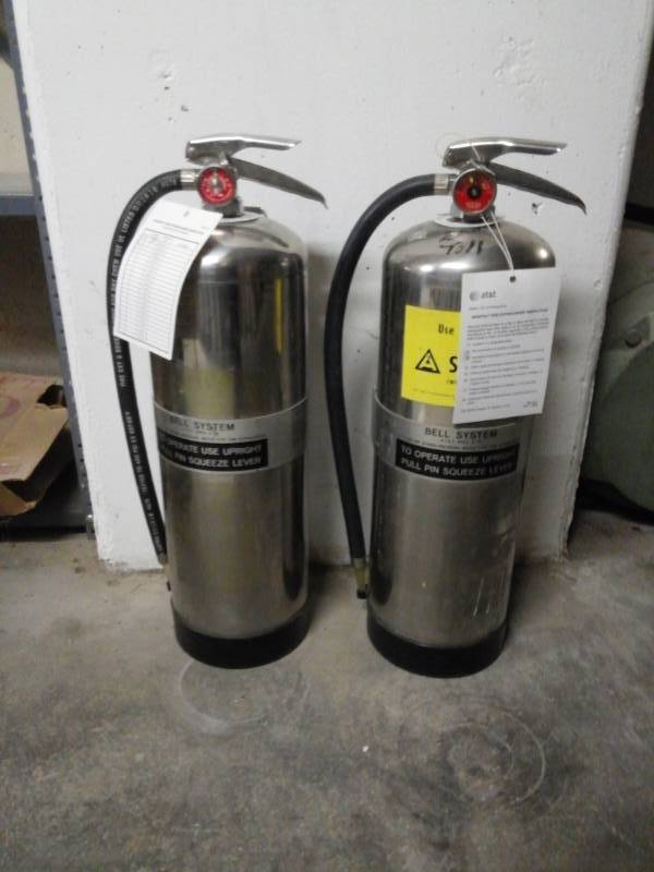 Pair of Class 2A Fire Extinguishers/Water