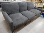 3 cushion gray sofa