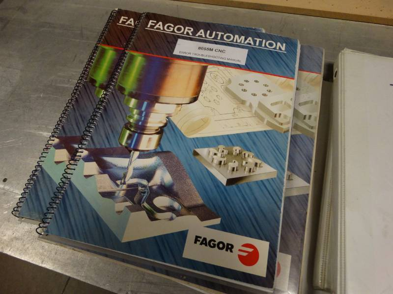 Fagor Automation commercial CNC complete set up w/ computer- Working!