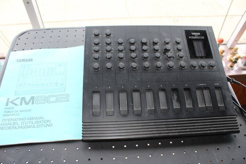 Vintage Pro AV Video Production Equipment - Yamaha Mixer Unit KM802 With Manual