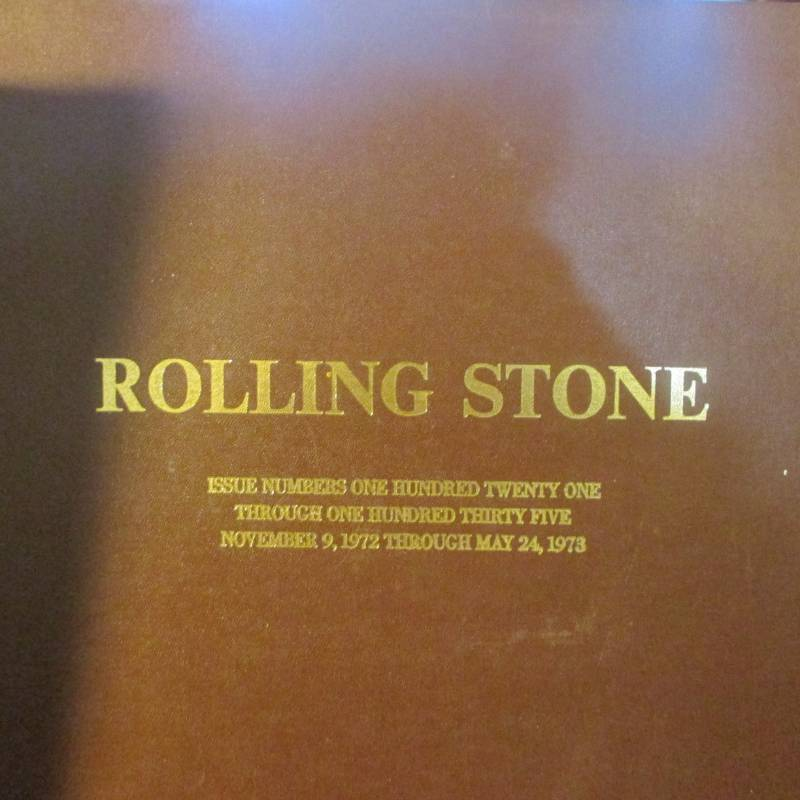 CONSECUTIVE COLLECTION OF ROLLING STONE MAGAZINES IN HARDBOUND ISSUE